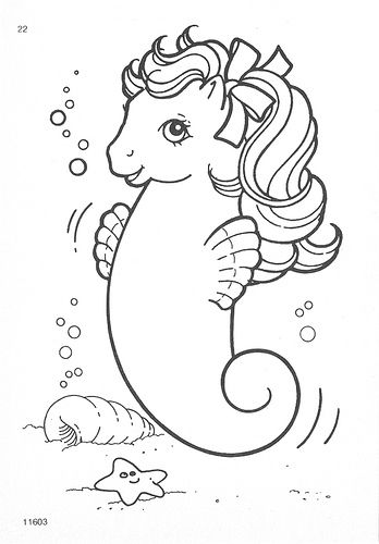 My Little Pony G1 Coloring Pages Mermaid Coloring Pages Vintage