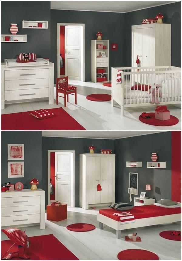 Inspiration+de+décor+en+rouge+vif,+gris+et+le+blanc+9.jpg 600 × 857 ...