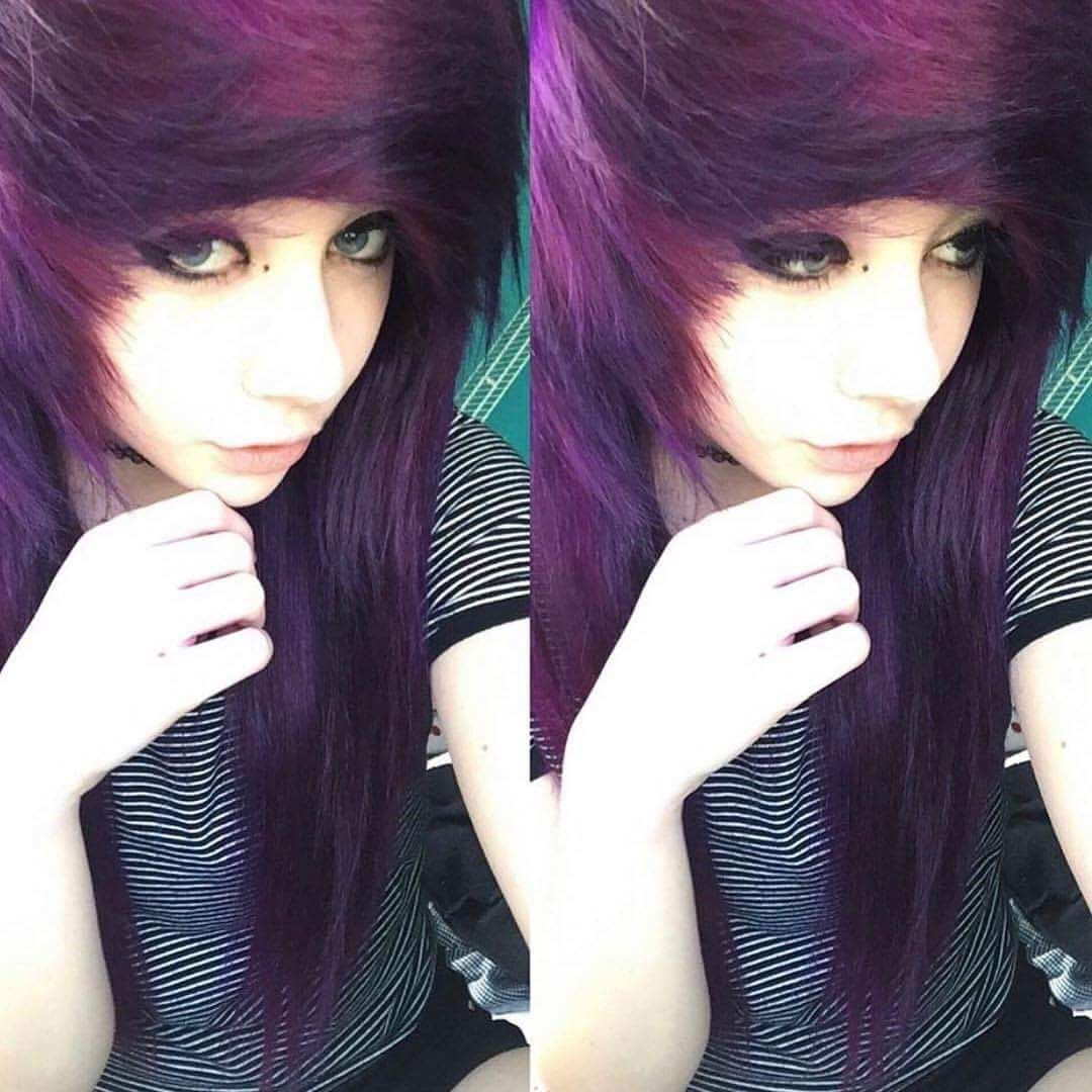 Poofy purple emoscene hair hairstyles and tips pinterest emo