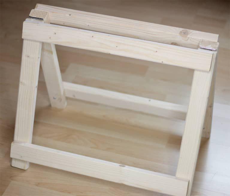 DIY Regal: Regal bauen mit Mini Klappböcken | Regal bauen ...