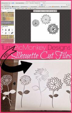 How to Cut PicMonkey Designs in Silhouette Studio #picmonkey #silhouette #silhouetteamerica #silhouettetutorials www.silhouetteschool.blogspot.com