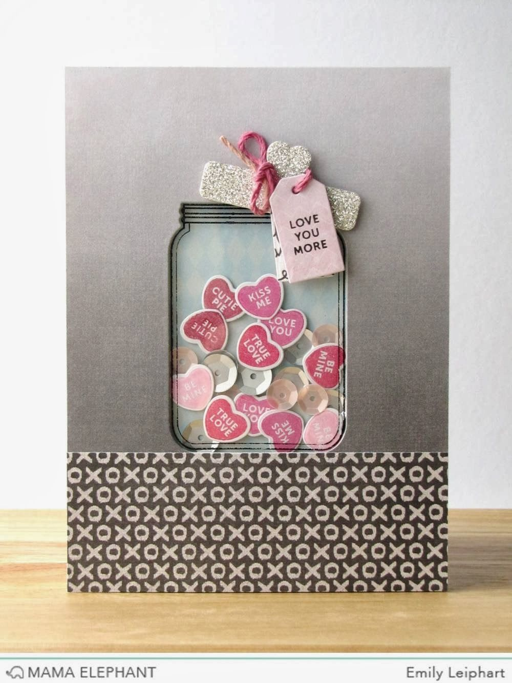 Jar full of love is a shaker card! Watch the video tutorial for your own