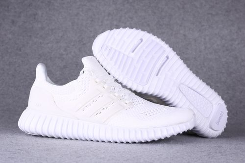 Mens Adidas Ultra Boost All White Yeezy