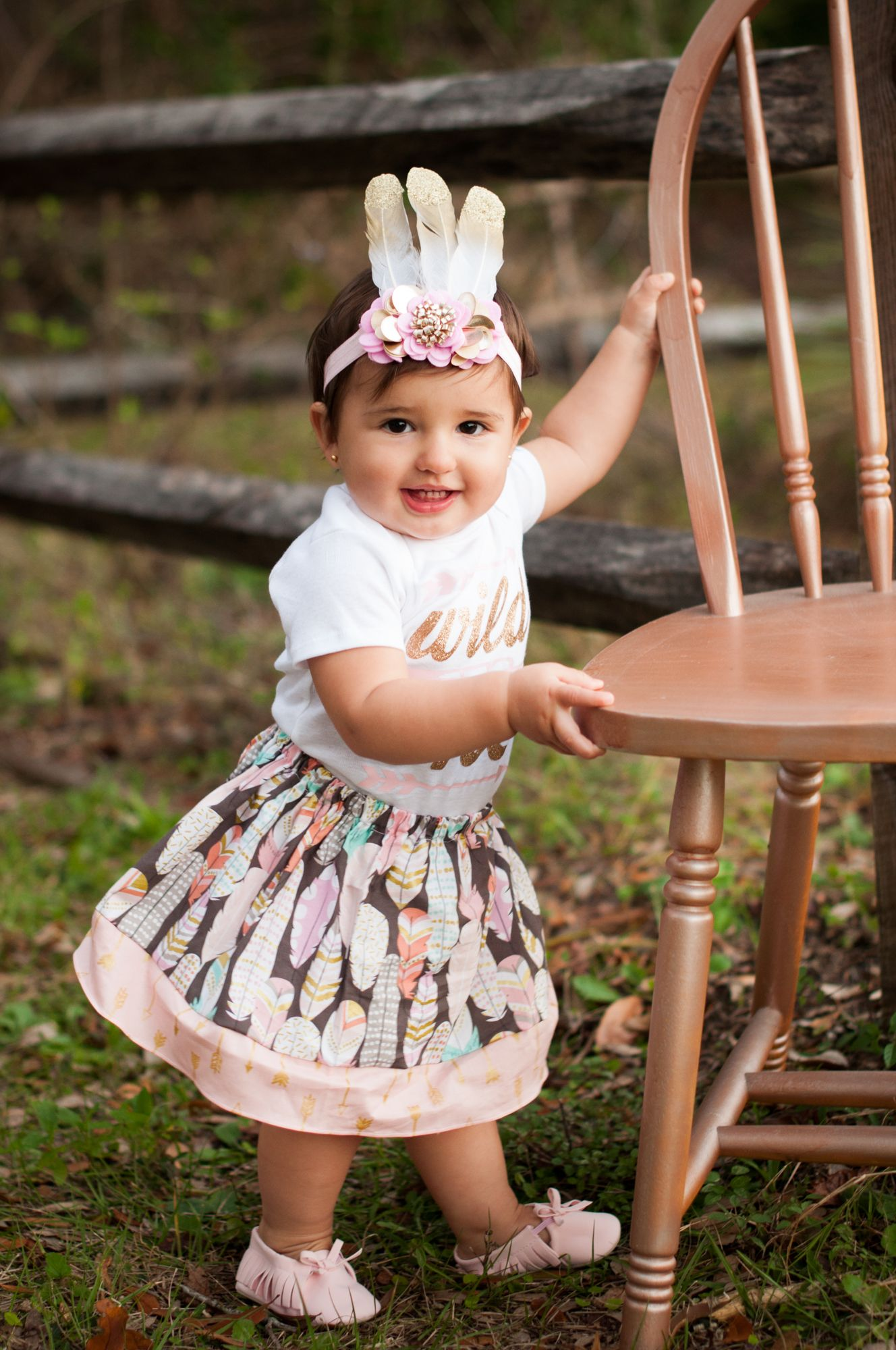 Bow  Headband Boho Bull Skull Pants First Birthday Outfit 1 Year Old Gold Glitter Bodysuit Wild One 1st Birthday Outfit Girls
