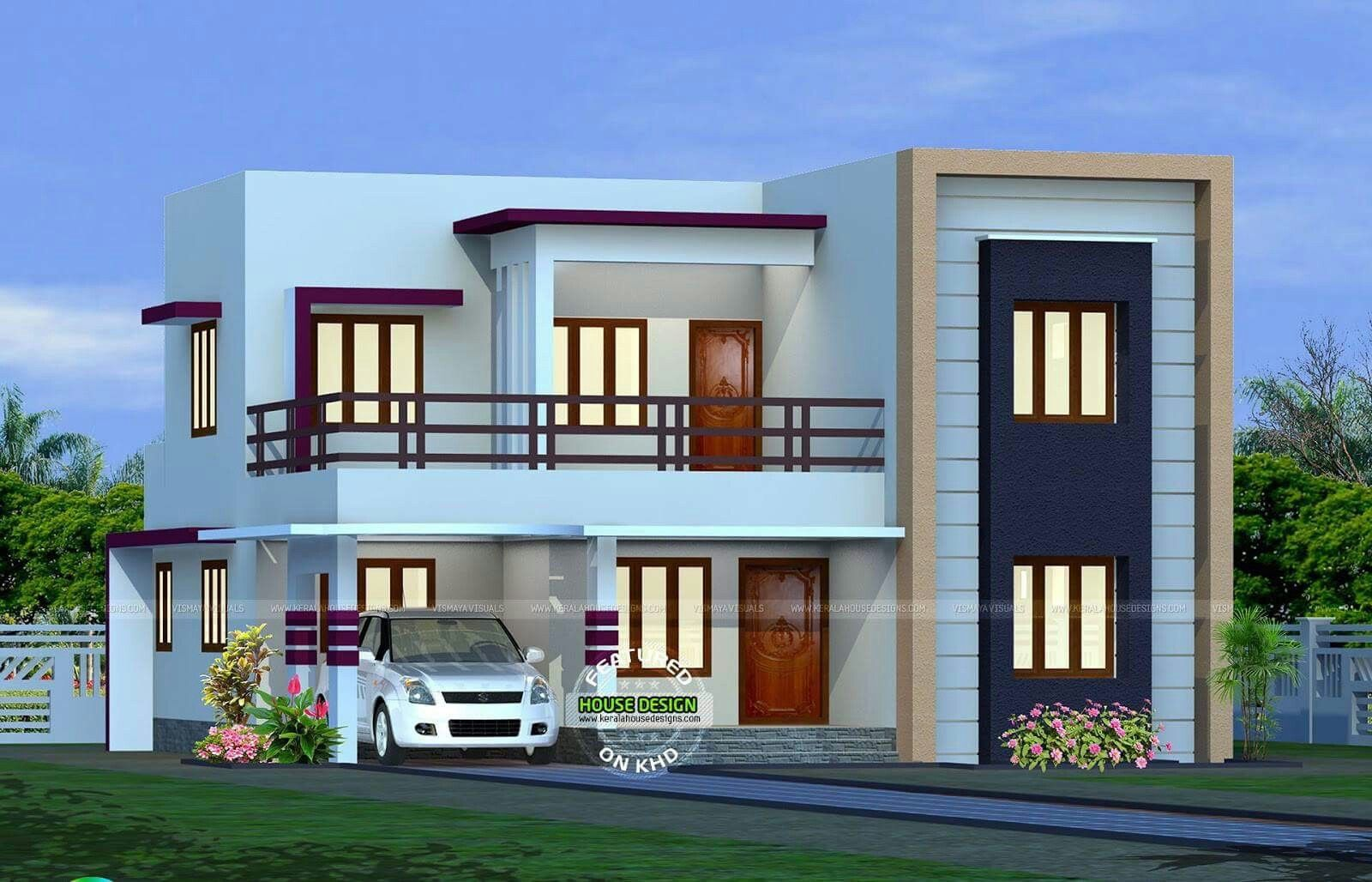 2 Story Home House Roof Design Small House Roof Design Flat Roof House