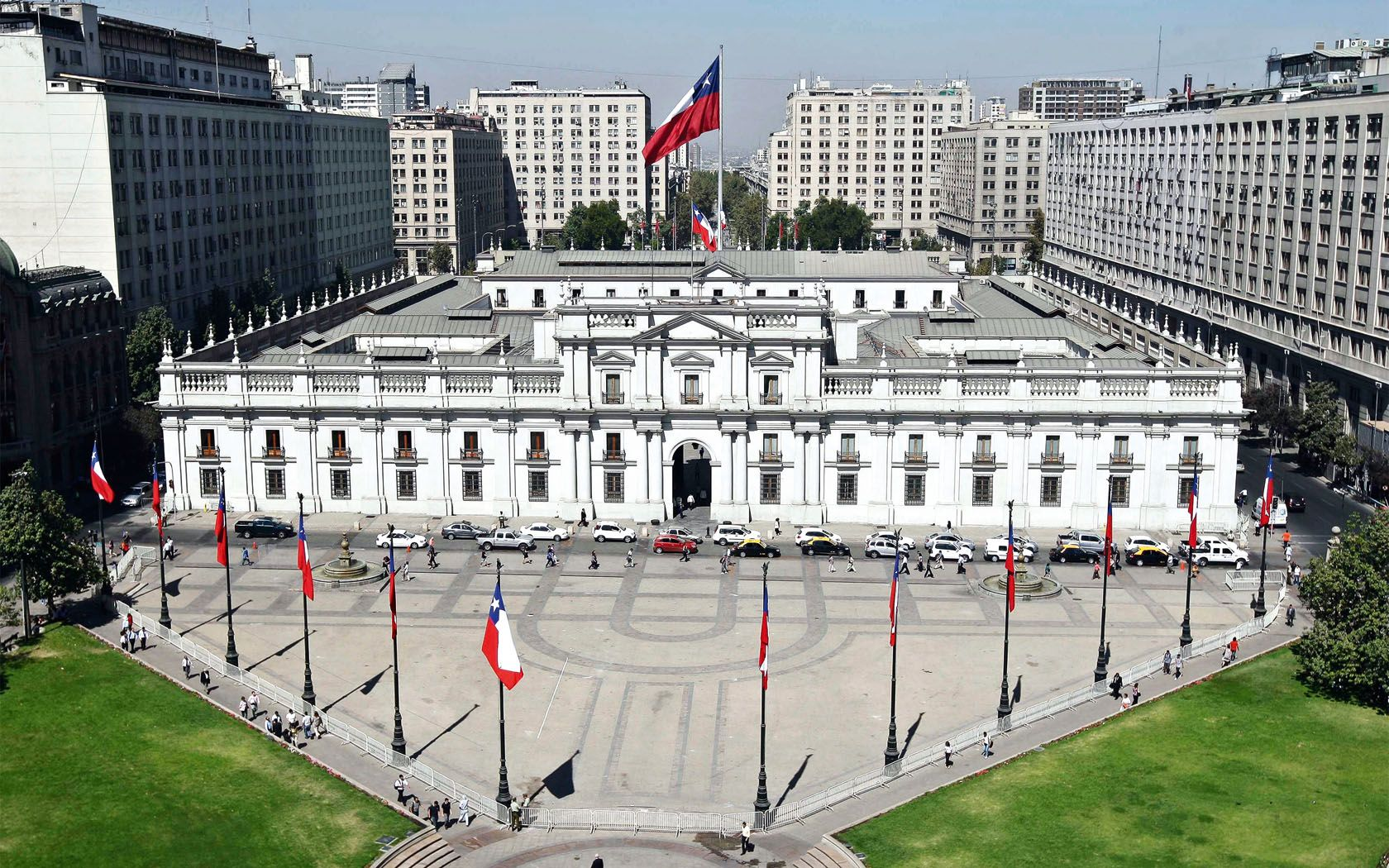 Palacio de La Moneda (con imágenes)   Santiago de chile, Palacios ...