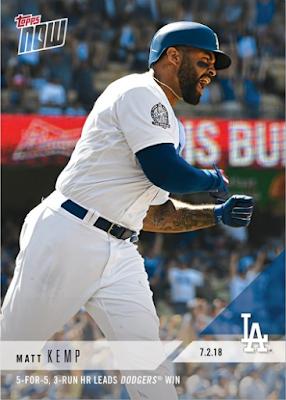 Dodgers Blue Heaven 2018 Topps Now 404 Matt Kemp's