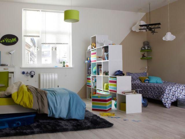 une chambre deux enfants 18 id es pour partager l 39 espace. Black Bedroom Furniture Sets. Home Design Ideas
