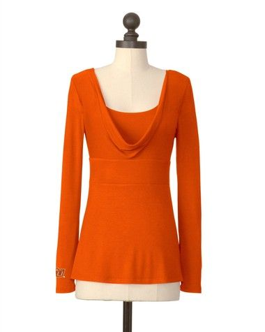 Oklahoma State Cowboys | Empire Waist Cowl Neck Top | meesh & mia