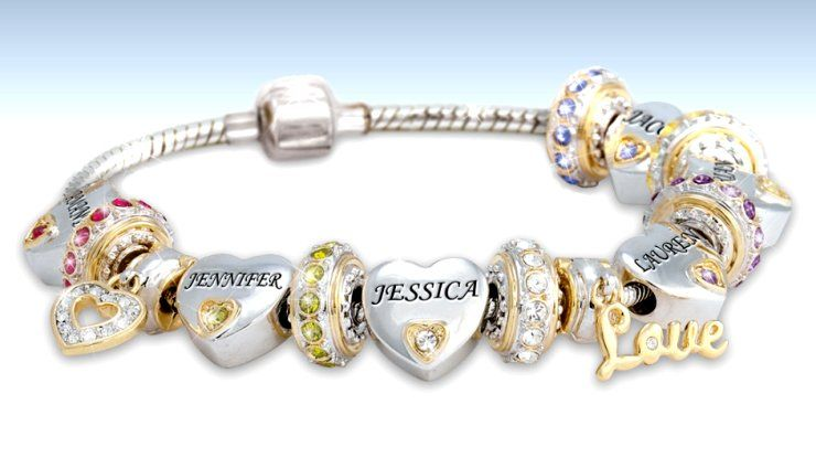 Child Name Engraved Personalized Birthstone Bracelet For Mom