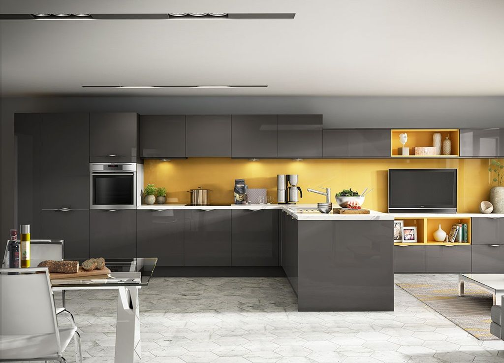 give your 2019 kitchen a stylish and trendy look with grey and yellow kitchen design on kitchen ideas yellow and grey id=13593