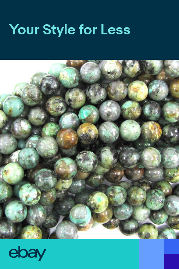 African Turquoise Round Beads Gemstone 15 5 Strand 4mm 6mm 8mm 10mm 12mm 14mm African Turquoise Round Beads Gemstone Beads