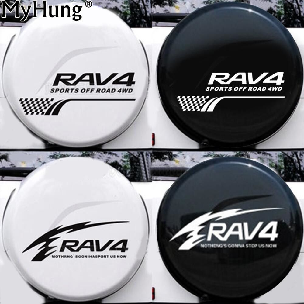 Car styling for toyota rav4 suv sports offroad car tail spare wheel decoration car sticker flower flame lattice car decor