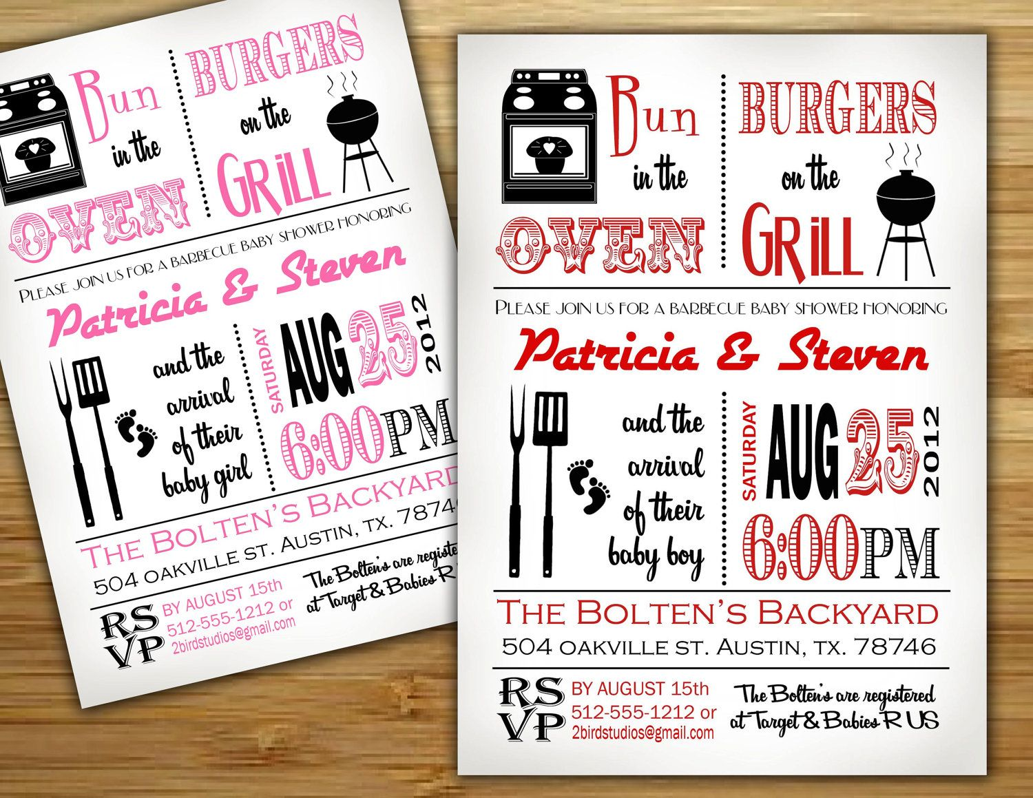baby shower invitation boy baby shower bbq barbecue invite diy
