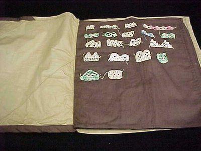 Vintage-Antique-Estate-Find-Crocheted-Crochet-Lace-Pattern-Book-Samples-1930s
