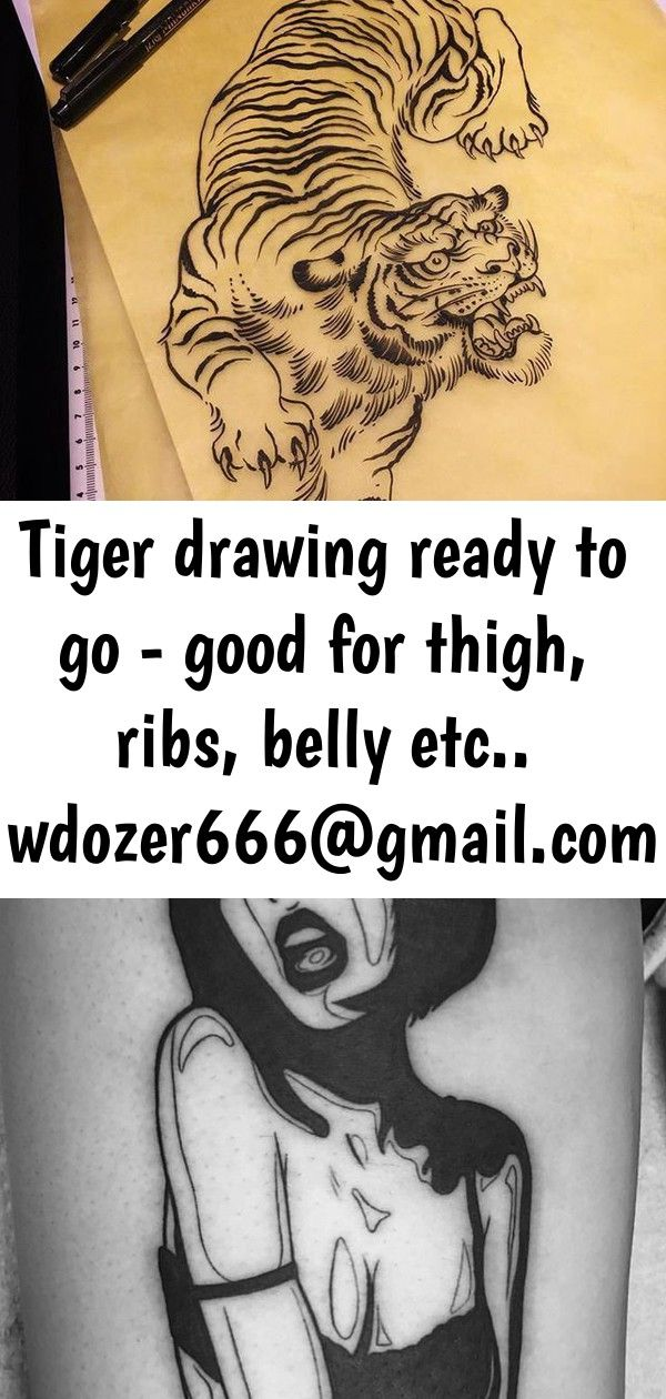 Tiger drawing ready to go  good for thigh ribs belly etc wdozer666 if you want it 7 Tiger drawing ready to go  good for thigh ribs belly etc wdozer666 if you want it  Ske...