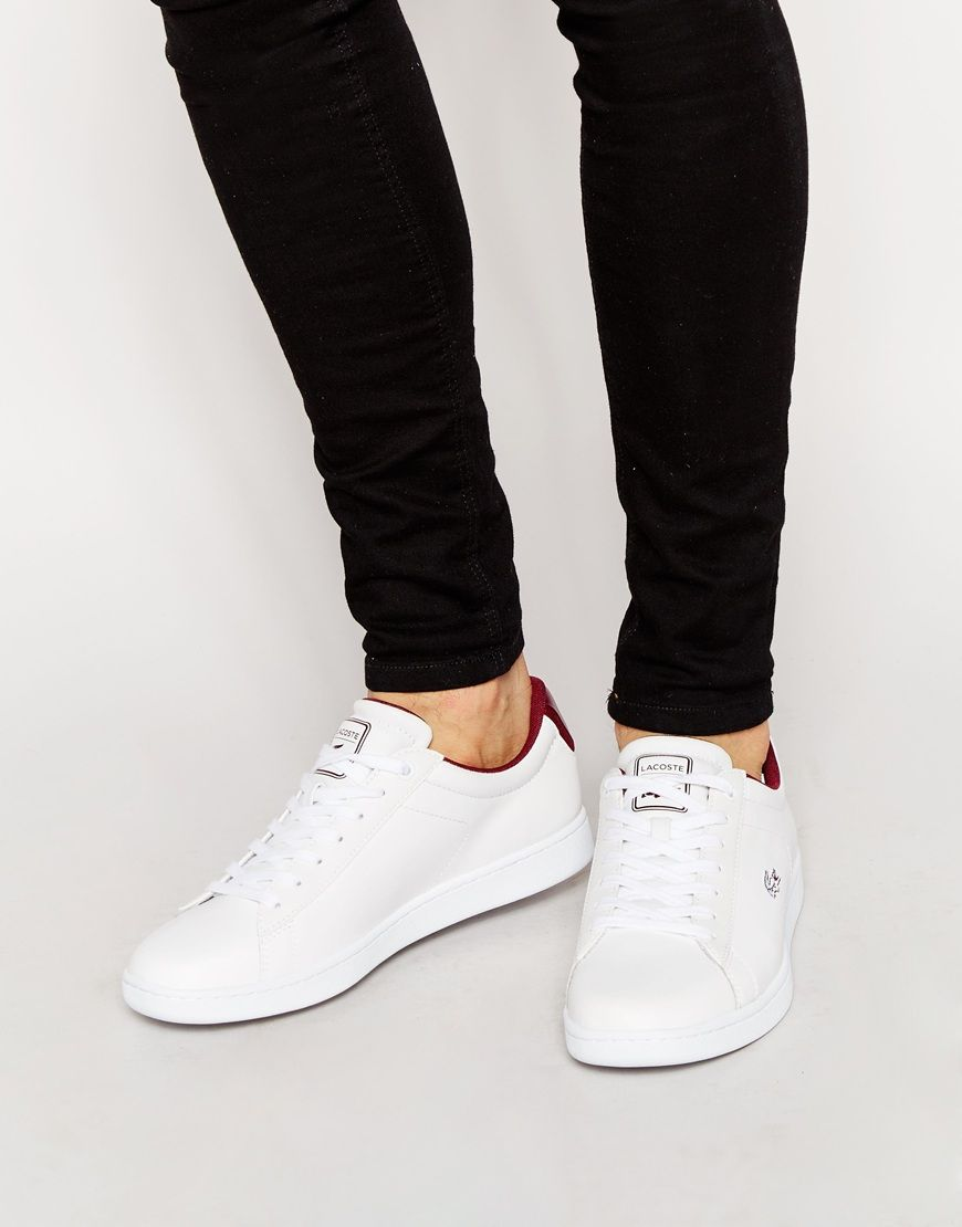 d904d75d20 Lacoste Carnaby Evo Leather Trainers | FASHION. | Leather trainers ...