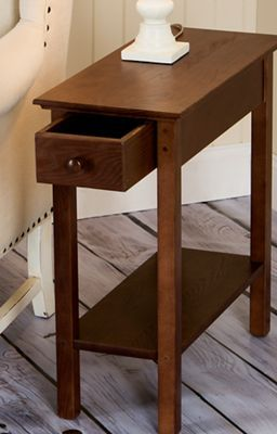 Slim End Table With Extra Long Drawers Storage Furniture