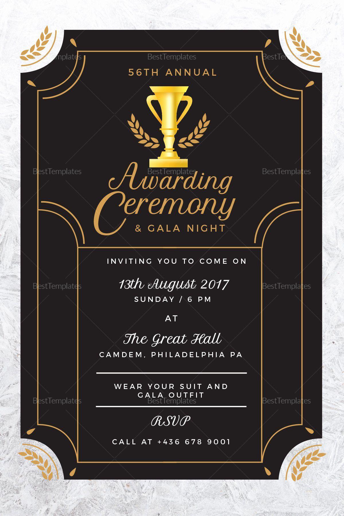 Best Program To Make Invitations Luxury Annual Award Ceremony Invitation Design Template Ceremony Invitation Invitation Template Printable Invitation Templates