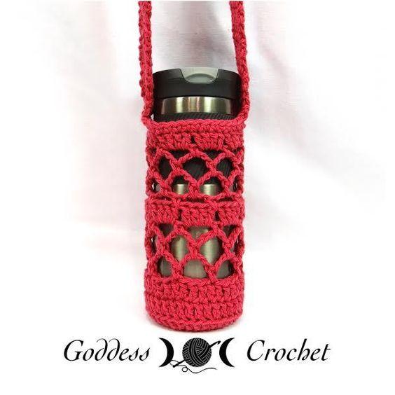 Free crochet pattern what a mesh water bottle holder crochet free crochet pattern what a mesh water bottle holder crochet pinterest water bottle holders bottle holders and free crochet dt1010fo