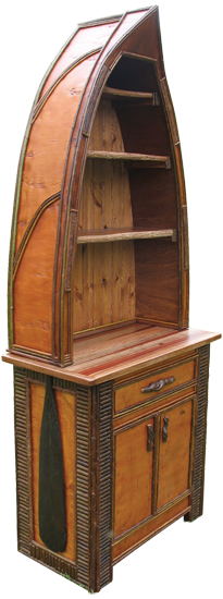 rustice canoe bookcase{ this is perfect} (With images