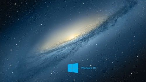 Windows 10 Desktop Wallpaper with Scientific Space