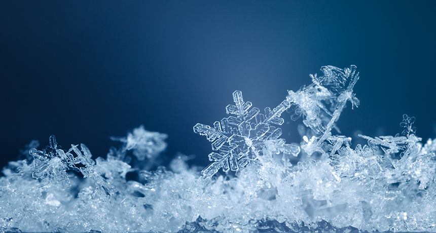 Snowflakes And Avalanches Science News For Students