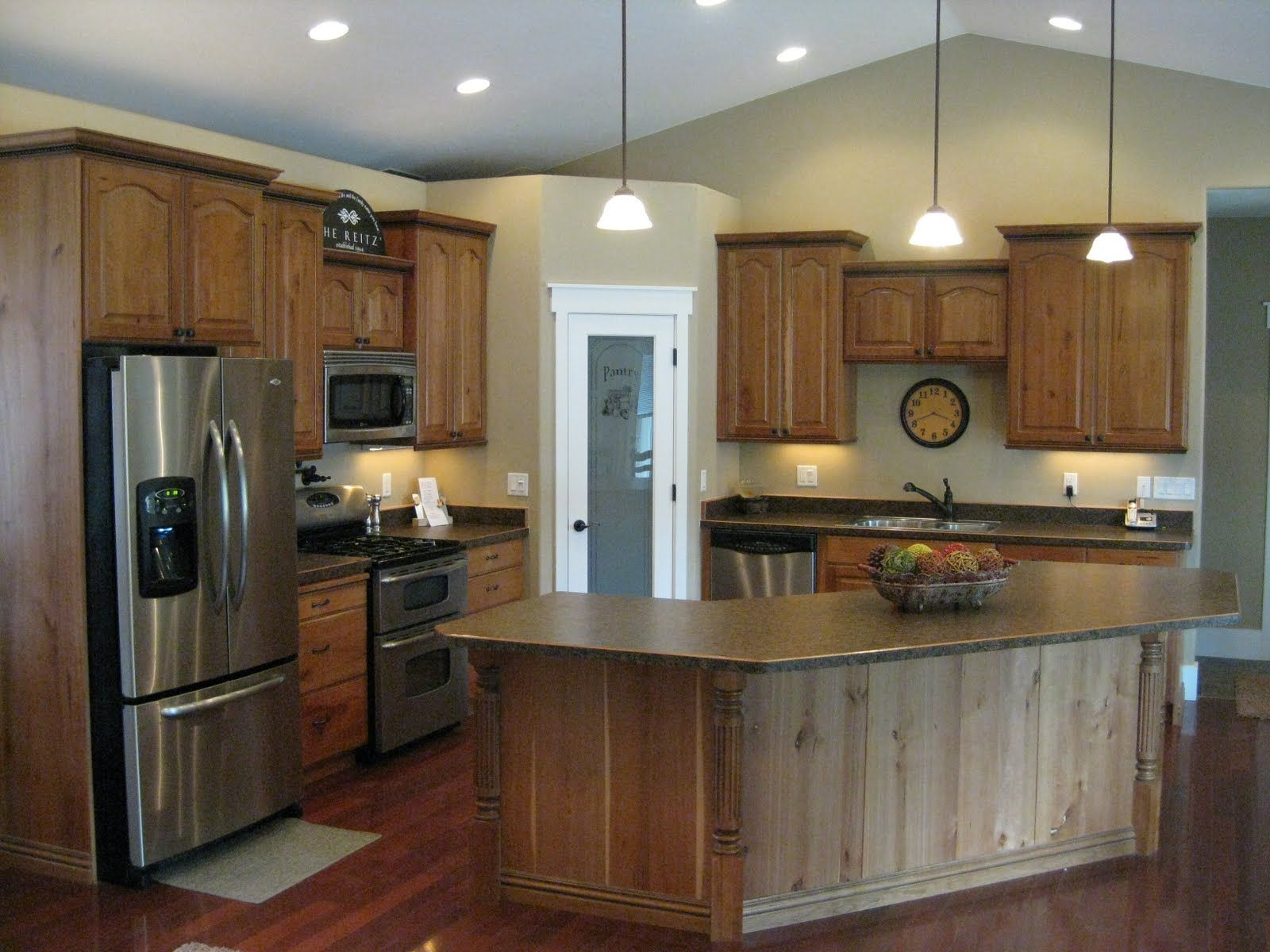 black moulding | Cherry cabinets with mocha glaze and ...