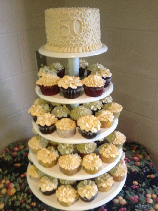 golden wedding cake with cupcakes 50th anniversary cupcakes 43 posts and 0 followers since 14779