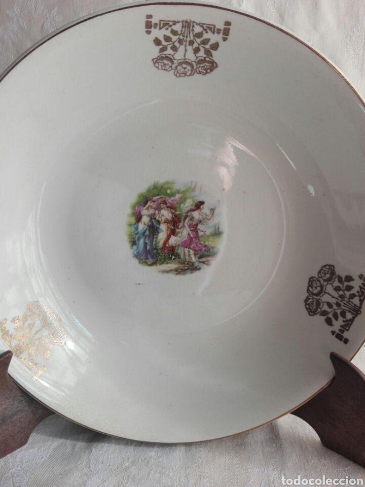 Fuente honda o plato de porcelana de axpe bilbao pln 23 5 for Platos porcelana