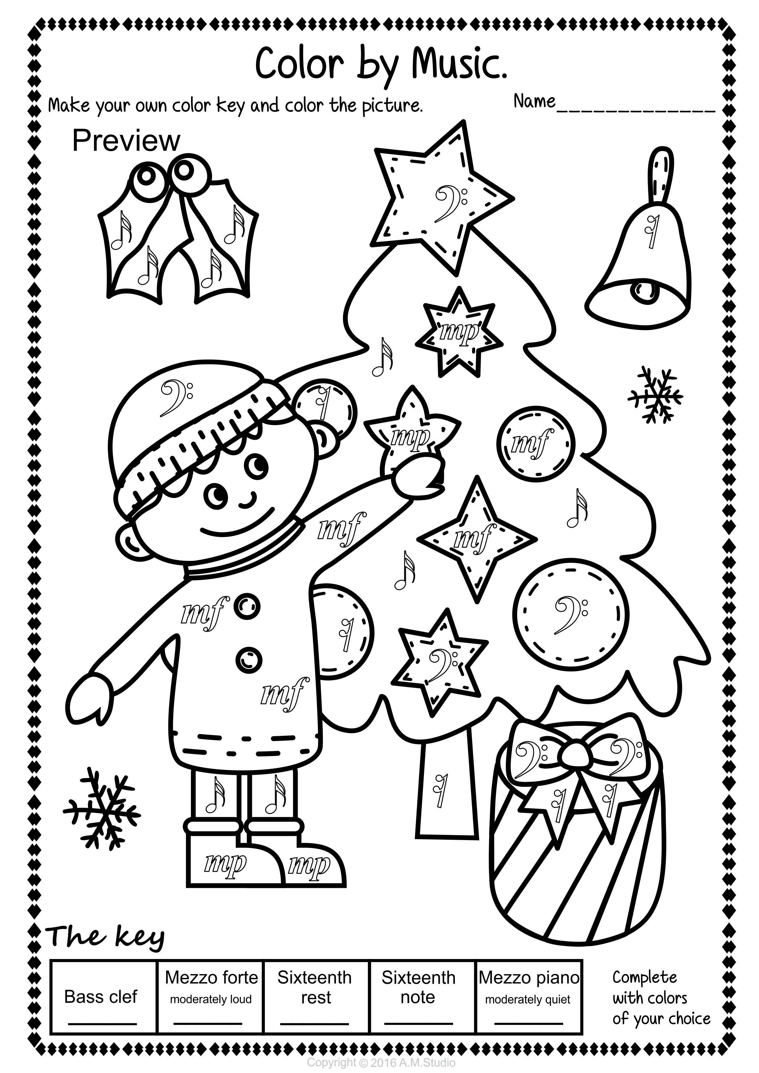 Simple And Fun Christmas Music Coloring Activity For Kids This Set Contains 14 Christmas Music Activities Christmas Music Worksheets Christmas Music Coloring [ 3501 x 2476 Pixel ]