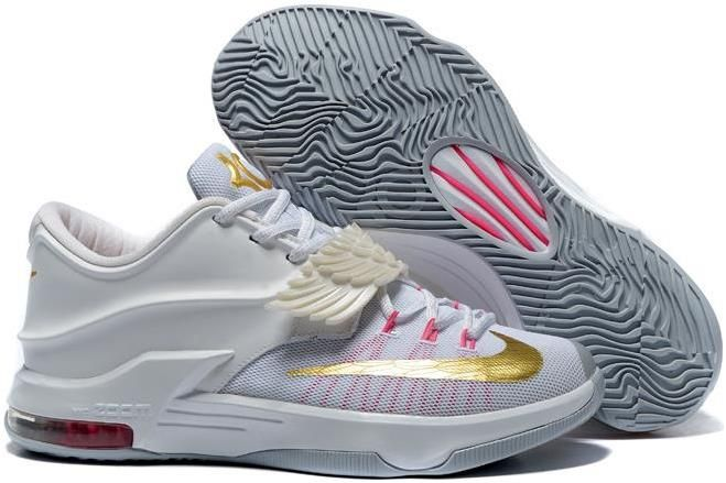 release info on 6e747 e7e03 Nike KD 7 All Star White Gold Pink