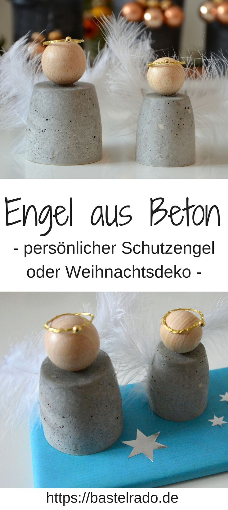 diy engel aus beton als schutzengel oder weihnachtsdeko dekor ci pyssel. Black Bedroom Furniture Sets. Home Design Ideas