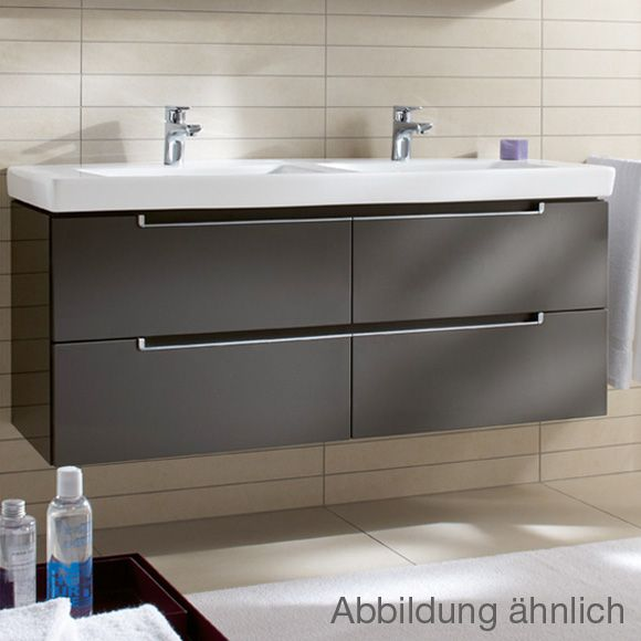 Perfect villeroy u Boch Subway double unit in glossy grey