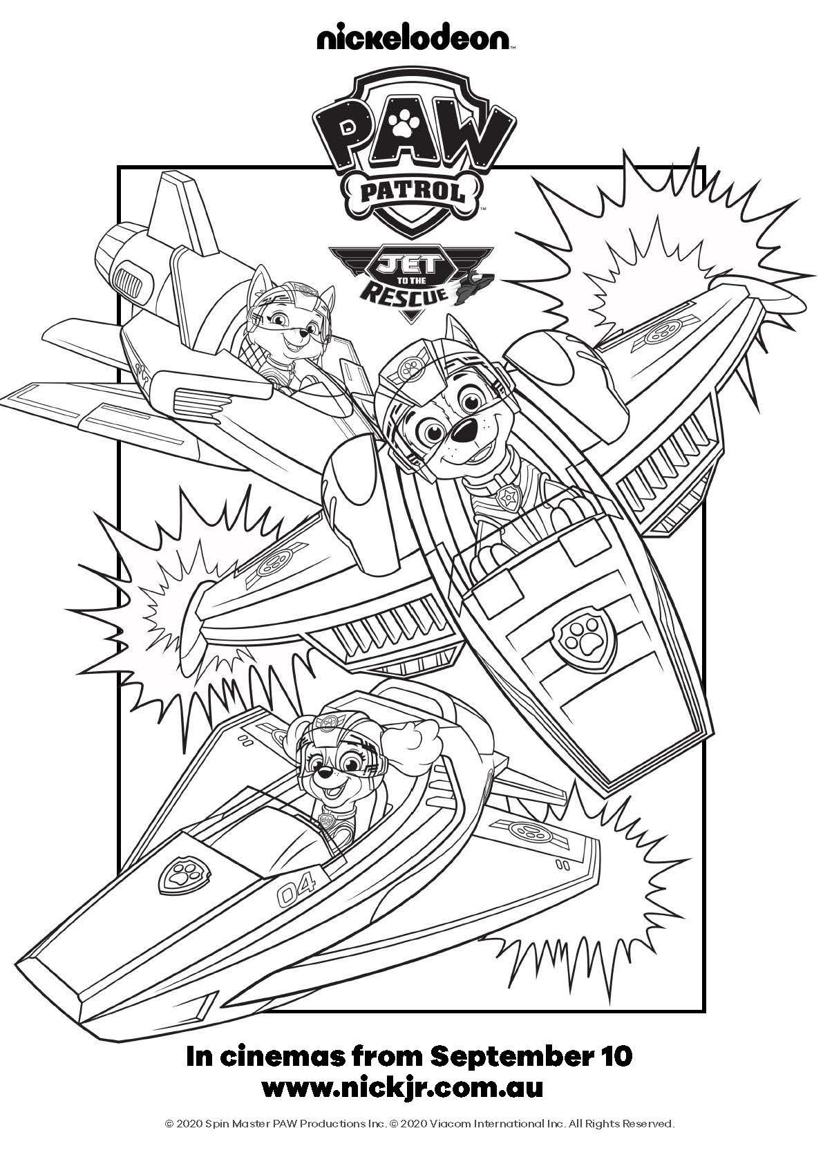 Paw Patrol Jet To The Rescue : patrol, rescue, PATROL:, RESCUE, Colouring-in, Sheet, Patrol, Coloring,, Patrol,