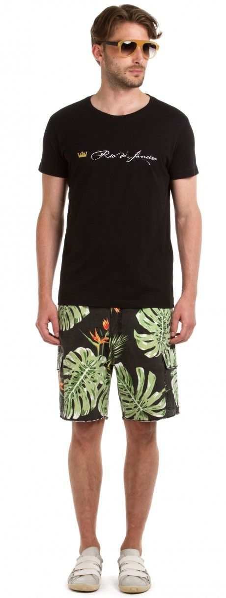 Osklen - BERMUDA CASUAL TROPICAL LEAVES - SALEPREVIEW