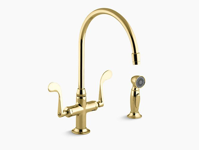 Kohler Kitchen Sink Faucets Brass Kitchen Sink Antique Brass Kitchen Faucet