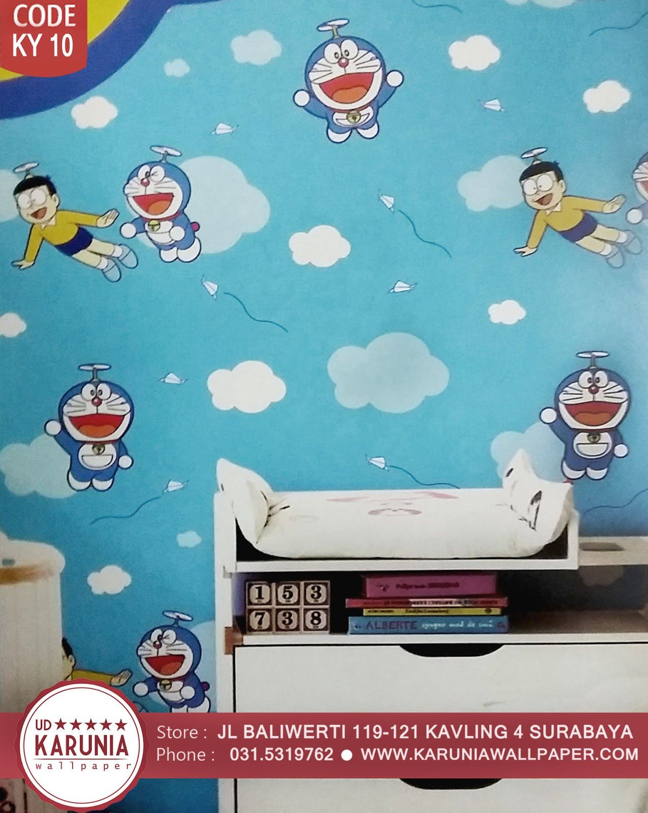 Jual Wallpaper Dinding Kamar Anak Kamar Bayi Motif Pokemon Lucu