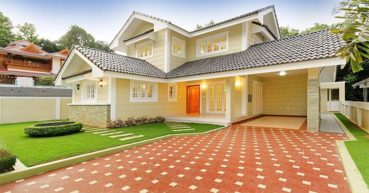 Traditional Home Exterior Design Kerala #KeralaHomes #ModernInteriorConcepts
