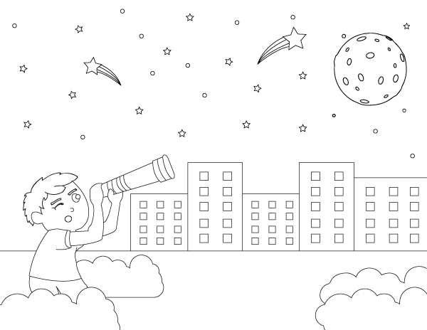 Download Free printable astronomy coloring page. Download it at https://museprintables.com/download ...