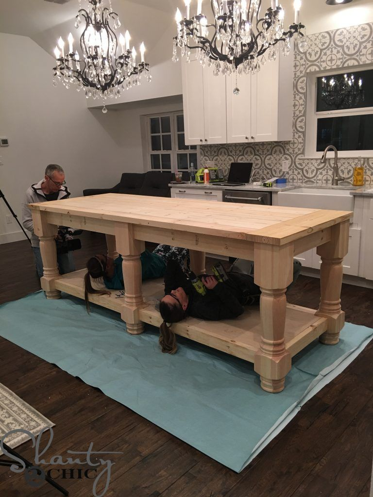 DIY Kitchen Island - Free Plans & How To Video - Shanty 2 Chic