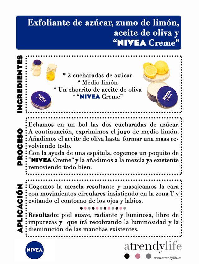 Exfoliante Casera Con Nivea Creme Exfoliante Casero Exfoliante Exfoliante De Azúcar