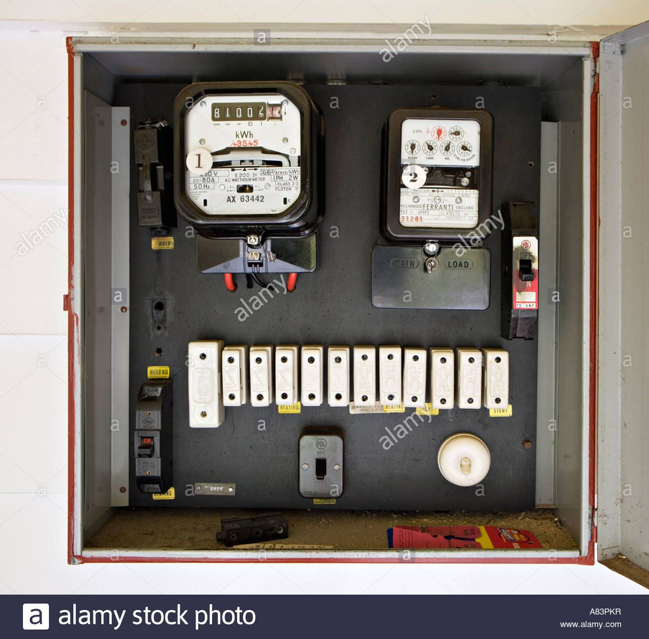 electricity meter in box with old style fuses circa 1962 in new rh pinterest com old style fuse box parts old fashioned fuses for fuse box