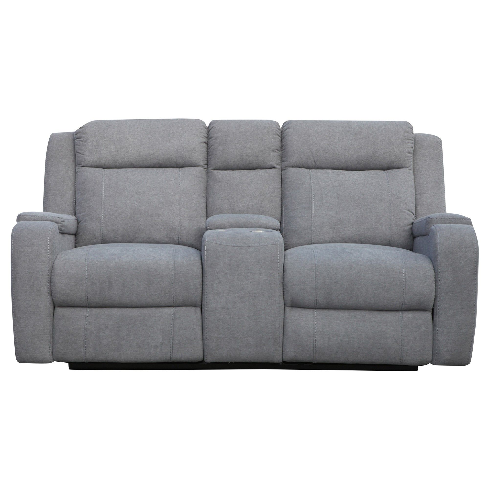 Renton 2 Seater Linen Fabric Recliner Sofa Storm With Images