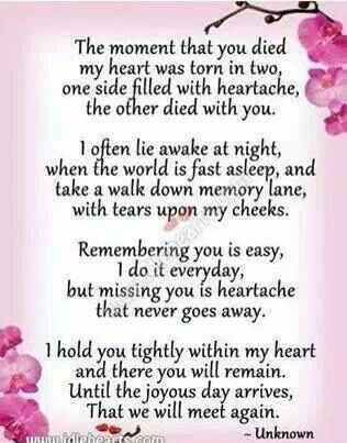Missing You Each And Every Day Judith My Twin Part Of Me Went With