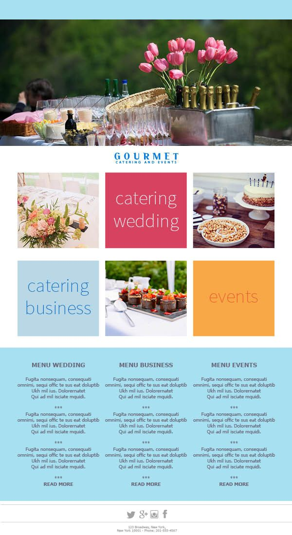 The Colorful Catering Campaign. #EmailTemplates for your ...