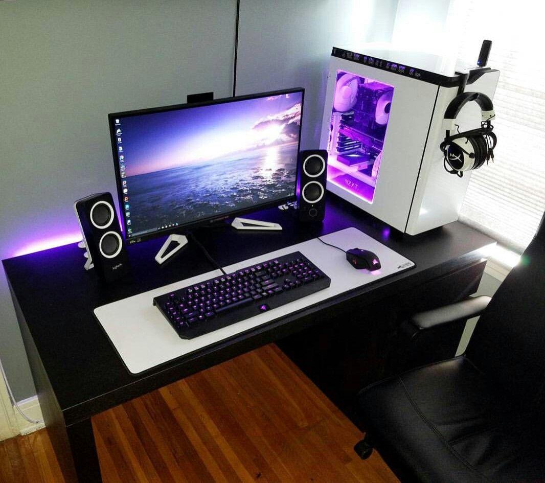 17 Computer corner ideas | gaming room setup, gaming desk, diy computer desk
