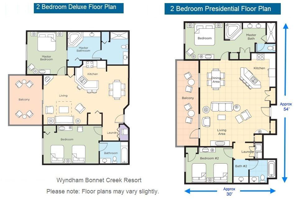 2 Bedroom Deluxe Bonnet Creek Wyndham Bonnet Creek Presidential Suite Wdw Pinterest