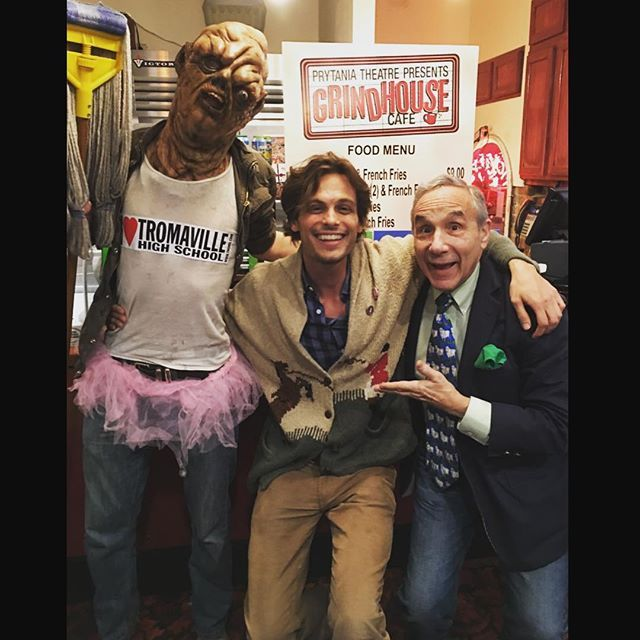 squatting with 2 of my favorite underground legends. can you guess which one is imaginary? @lloydkaufman