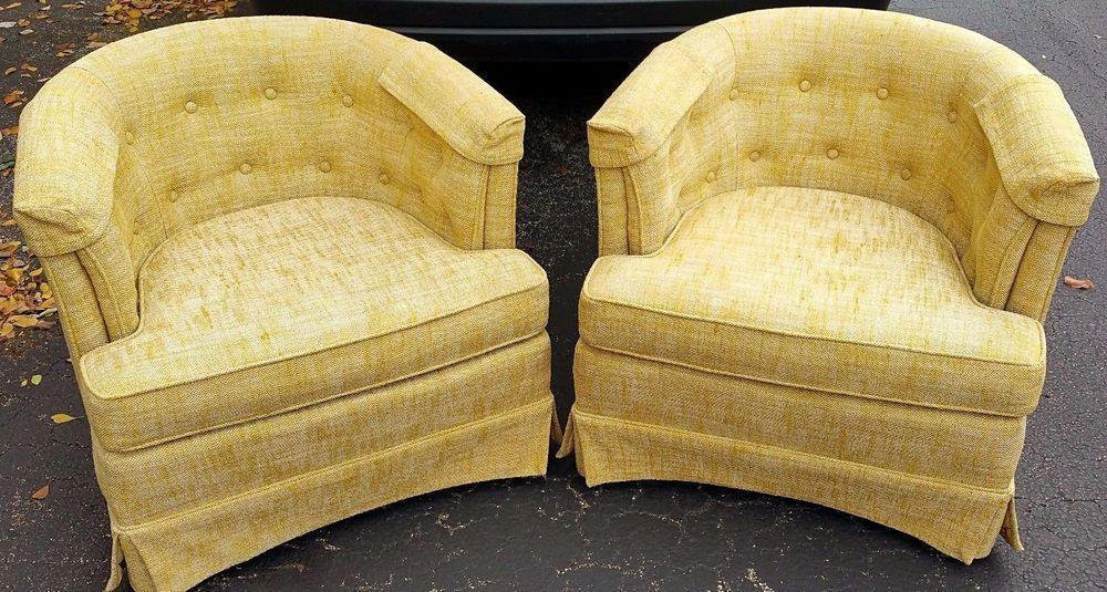 Groovy 2 Woodmark Originals Mid Century Barrel Tufted Armchairs On Machost Co Dining Chair Design Ideas Machostcouk